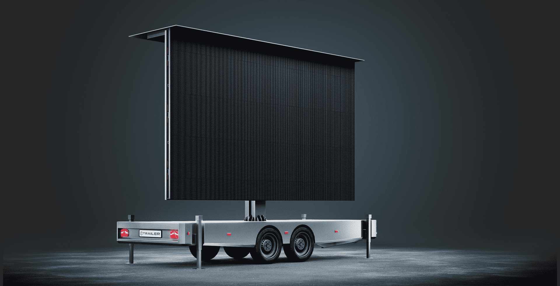 Professional Mobile LED trailer screen from 1TRAILER   Display Trailer
